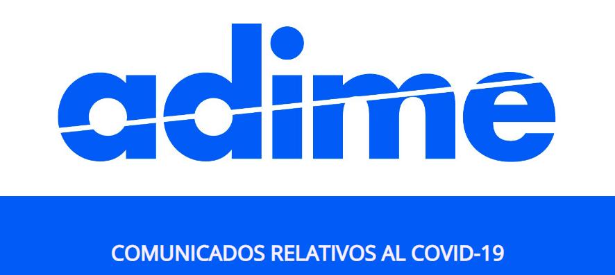 Comunicados COVID-19 adime