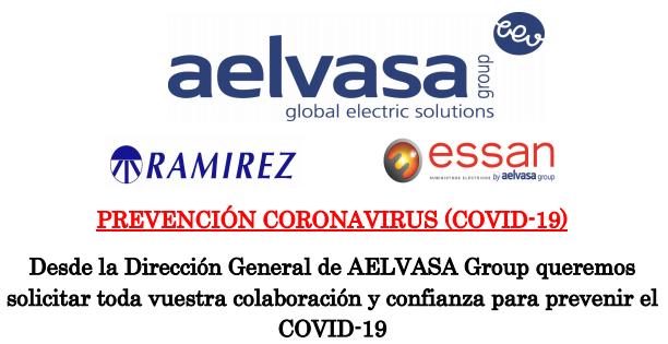 Prevención Coronavirus (COVID-19) – Aelvasa Group